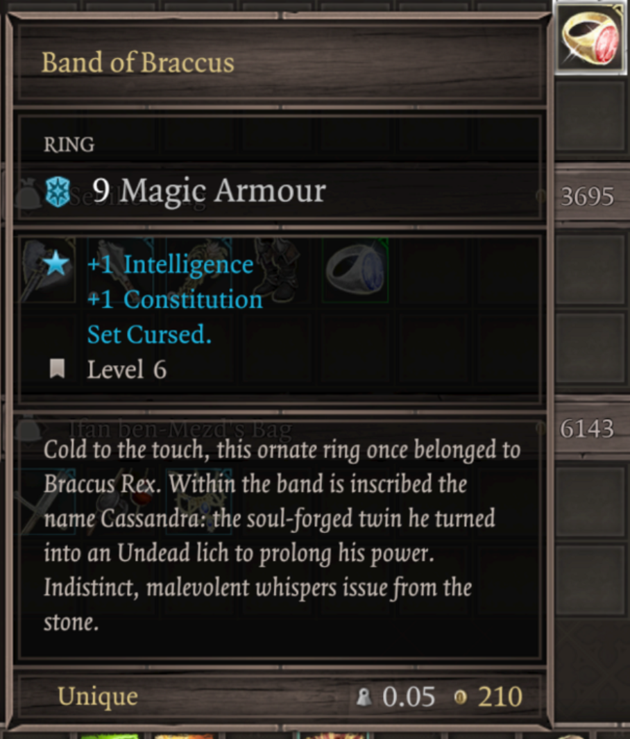 The Cursed Ring Divinity Sin